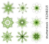 Green Vector Ornament Collection