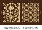 laser cutting set. woodcut... | Shutterstock .eps vector #512484025
