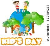 poster design for kids day... | Shutterstock .eps vector #512484289