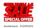 christmas sale special offer... | Shutterstock . vector #512492251