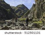 mountaineers trekking across... | Shutterstock . vector #512501131