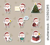 set of santa stickers | Shutterstock .eps vector #512501395