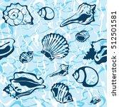 seamless seashell background ... | Shutterstock .eps vector #512501581