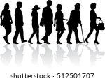 people walking  black... | Shutterstock .eps vector #512501707