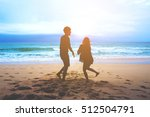silhouettes of a man and a... | Shutterstock . vector #512504791