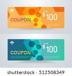 corporate gift voucher template.... | Shutterstock .eps vector #512508349