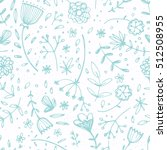 seamless pattern with beautiful ... | Shutterstock .eps vector #512508955