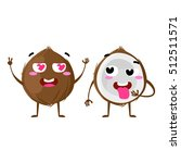 coconut. cute fruit vector... | Shutterstock .eps vector #512511571