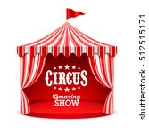 amazing circus show poster.... | Shutterstock .eps vector #512515171