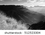 sun rays falling in valley of... | Shutterstock . vector #512523304