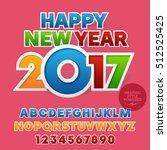 vector sticker colorful happy... | Shutterstock .eps vector #512525425