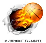 an illustration of a burning... | Shutterstock .eps vector #512526955
