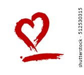 Silhouette Of A Red Heart And...