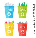 set of recycle garbage bins.... | Shutterstock . vector #512530441