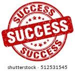 success stamp.  red round... | Shutterstock .eps vector #512531545