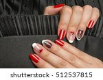 french manicure   beautiful... | Shutterstock . vector #512537815