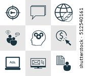 set of marketing icons on seo... | Shutterstock .eps vector #512540161
