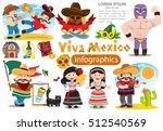 set of characters in cartoon...   Shutterstock .eps vector #512540569