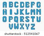 knitted christmas  alphabet. ... | Shutterstock .eps vector #512541067