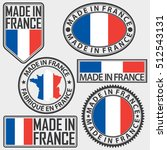 made in france label set with... | Shutterstock .eps vector #512543131