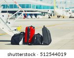travel luggage are ready for... | Shutterstock . vector #512544019