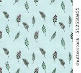 seamless pattern with leaves | Shutterstock . vector #512550655