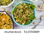 salad with fried sprouts and... | Shutterstock . vector #512550889