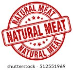 natural meat stamp.  red round... | Shutterstock .eps vector #512551969