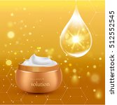 gold realistic cosmetic tube...   Shutterstock .eps vector #512552545