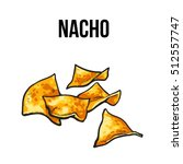 nachos  traditional mexican... | Shutterstock .eps vector #512557747