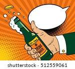 it's time to drink beer. pop... | Shutterstock .eps vector #512559061
