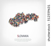 people map country slovakia... | Shutterstock .eps vector #512559631