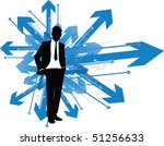 business man which way | Shutterstock .eps vector #51256633