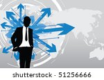 business man deciding which way ...   Shutterstock .eps vector #51256666