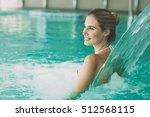 beautiful woman in resort spa ... | Shutterstock . vector #512568115