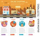 online internet shopping... | Shutterstock .eps vector #512574061