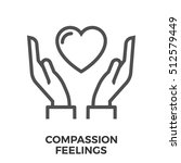 compassion feelings thin line ... | Shutterstock . vector #512579449