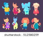 set of different cute animals ... | Shutterstock .eps vector #512580259