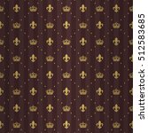luxe royal seamless pattern... | Shutterstock .eps vector #512583685