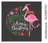 christmas illustration with... | Shutterstock .eps vector #512585767
