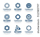 abstract tornado symbols and... | Shutterstock .eps vector #512585797