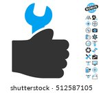 service hand pictograph with... | Shutterstock . vector #512587105
