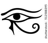the ancient symbol eye of horus.... | Shutterstock .eps vector #512588395