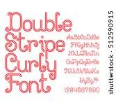 beautiful red double stripe... | Shutterstock .eps vector #512590915