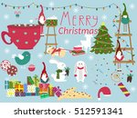 christmas symbols and elements... | Shutterstock .eps vector #512591341