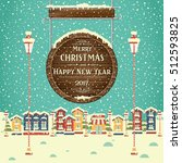 christmas background with...   Shutterstock .eps vector #512593825