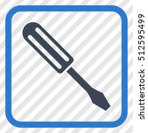 screwdriver smooth blue vector... | Shutterstock .eps vector #512595499