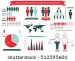 collection of infographic... | Shutterstock .eps vector #512595601