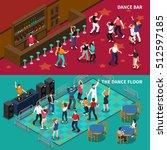 dj bar pubs and cafe dance... | Shutterstock .eps vector #512597185