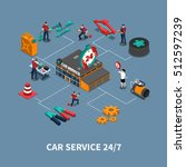 car service maintenance and... | Shutterstock .eps vector #512597239